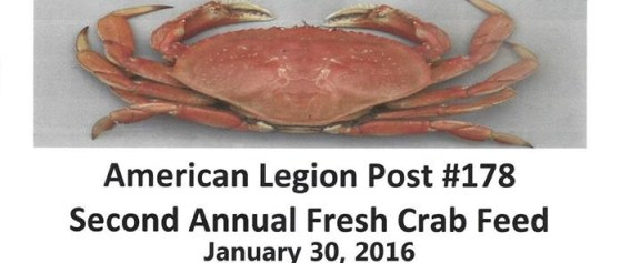 SECOND ANNUAL FRESH CRAB FEED!