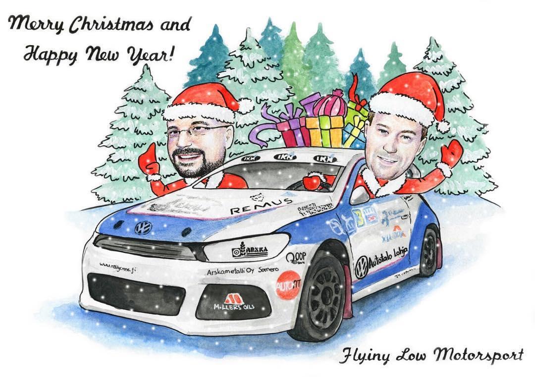 Happy holidays! #flm #rx #scirocco #rallycross