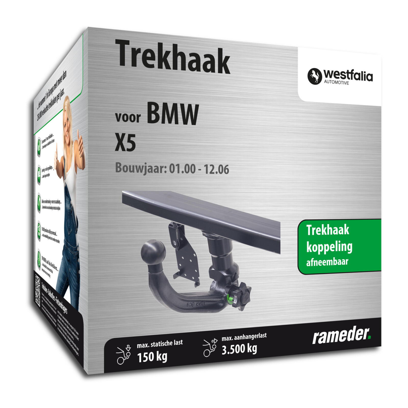 Westfalia Trekhaak Westfalia Trekhaak Afneembaar Bmw X5 Bj 05 00 12 06