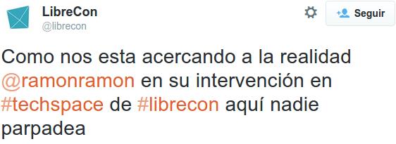 tuit1 300x109 Balance de #LibreCon 2014: encuentro referente internacional del Software Libre