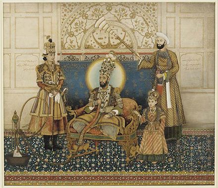 440px-Ghulam_Ali_Khan,_Bahadur_Shah_II_enthroned_with_Mirza_Fakhruddin_1837–38_Arthur_M._Sackler_Gallery,_Smithsonian_Institution,_Washington