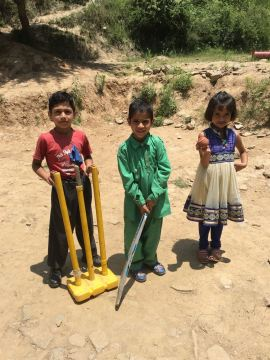 whether big or small they all got proper games equipment thanks to generous donors