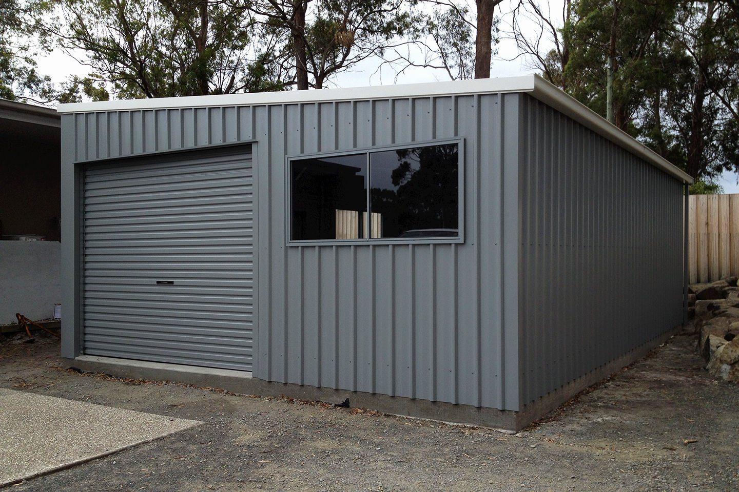 Garage Awning Extension Skillion Roof Sheds And Garages Ranbuild