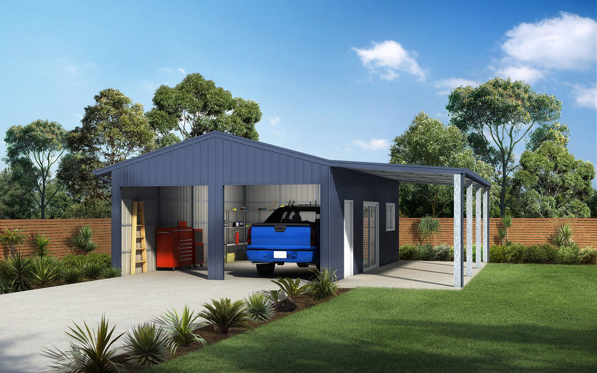 Garage Awning Extension Double Garages And Sheds For Sale Ranbuild