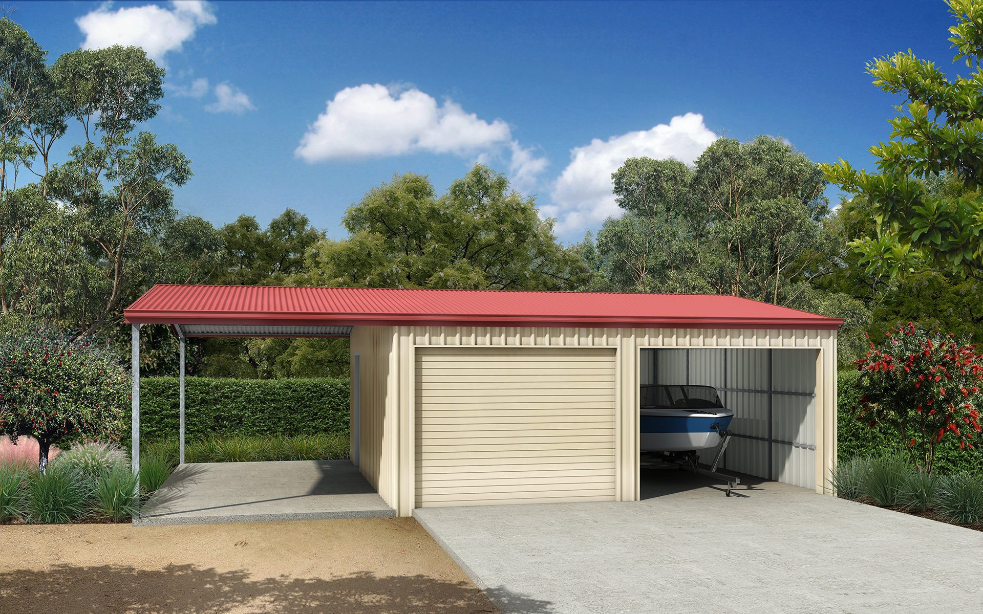 Garage Awning Extension Garaports Sheds And Garages Ranbuild