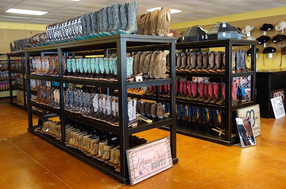 Ranch Racks Display Cabinets Cowboy Hats Boots And Saddles