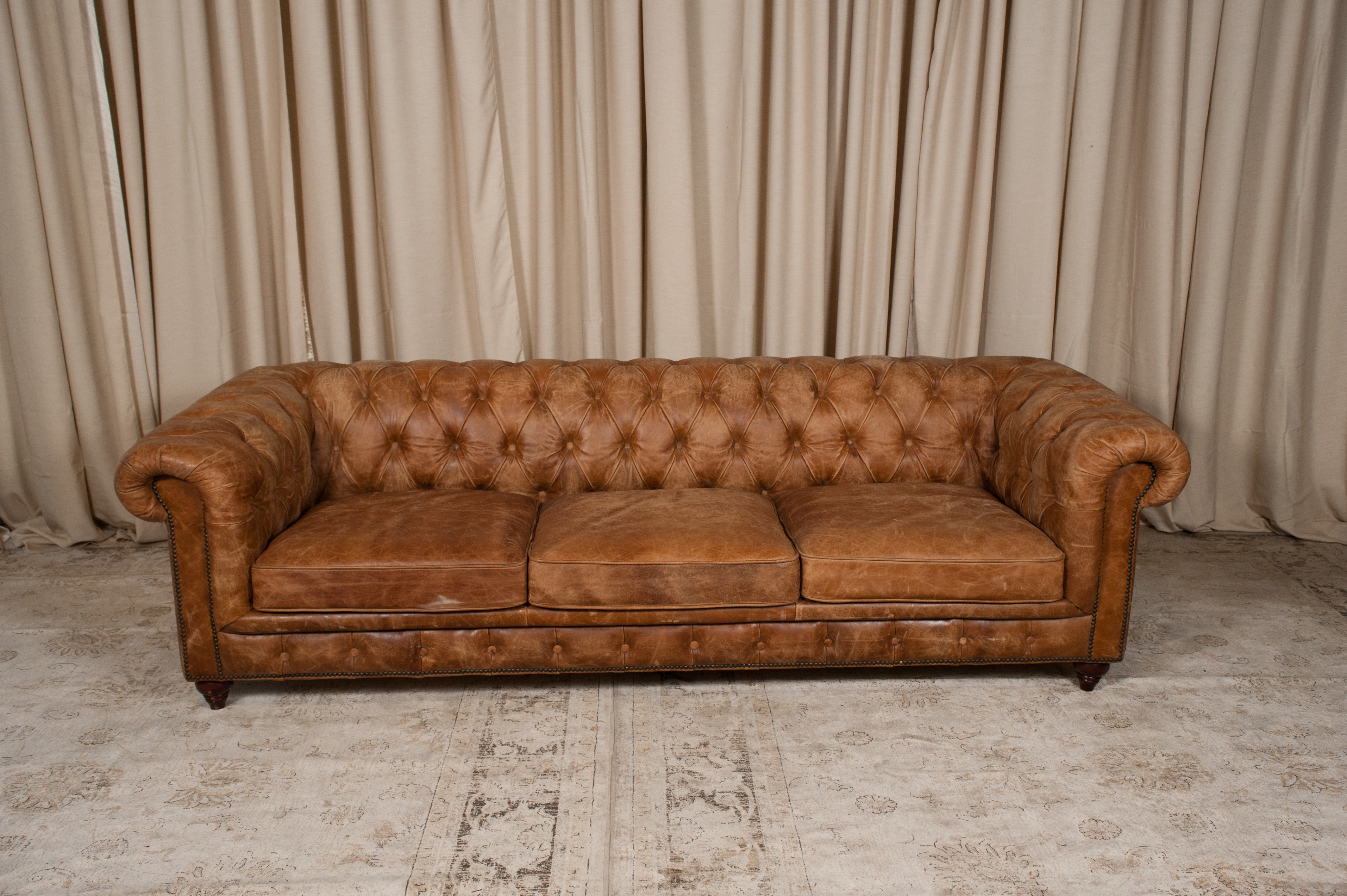Chesterfield Lounge Brown Leather Chesterfield Sofa