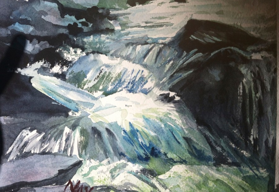 Rande-May-Watercolor-Waterfall