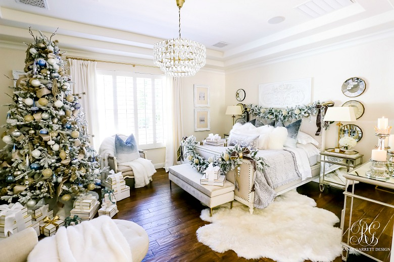 Elegant Christmas Bedroom - Randi Garrett Design