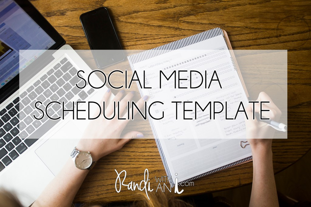 DIY social media scheduling template. Planning tools for social media managers.