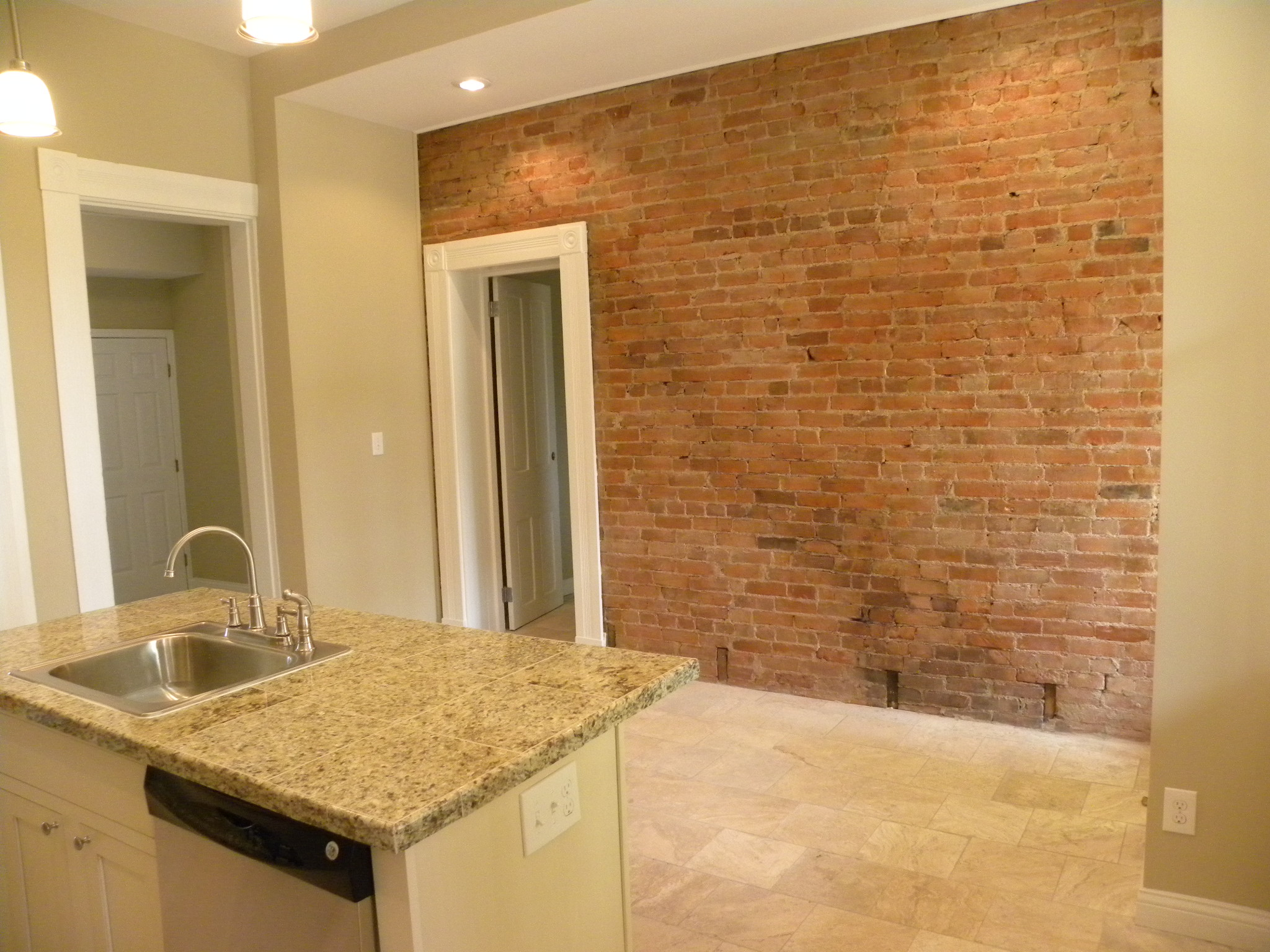 Kitchen Brick Wall Completely New Kitchen R Andj Construction