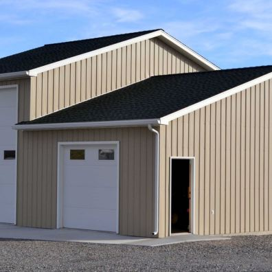 Garage and workshop.