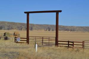 Ranch entry gate.