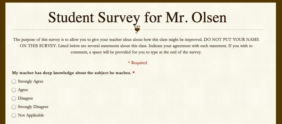 More on Student Surveys randolph innovation