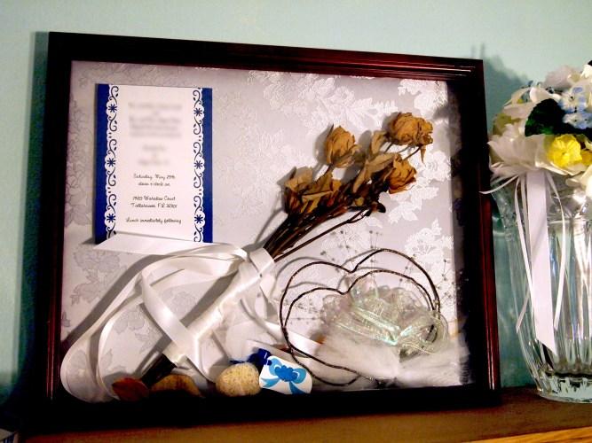 wedding shadow box re do wedding shadow box Tags wedding memorabilia shadow box We