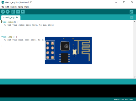 Arduino IDE screenshot with ESP8266