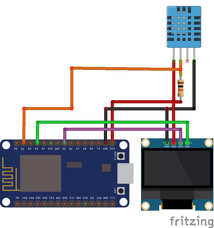 Esp8266 0 96 Inch Oled Display With Arduino Ide Random