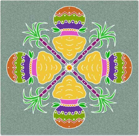 Pongal Rangoli Designs and Patterns