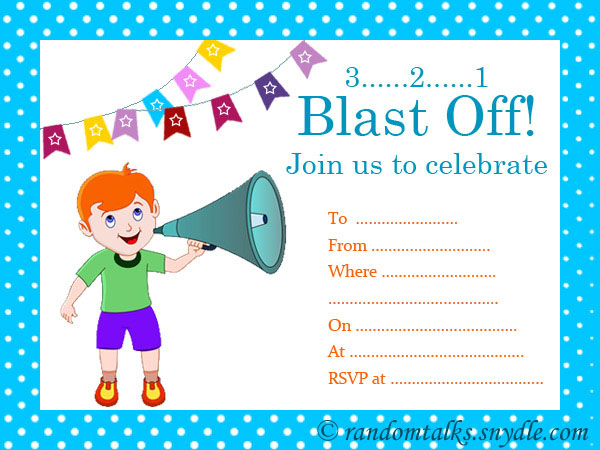 Intrepid image inside printable birthday invitations for boy
