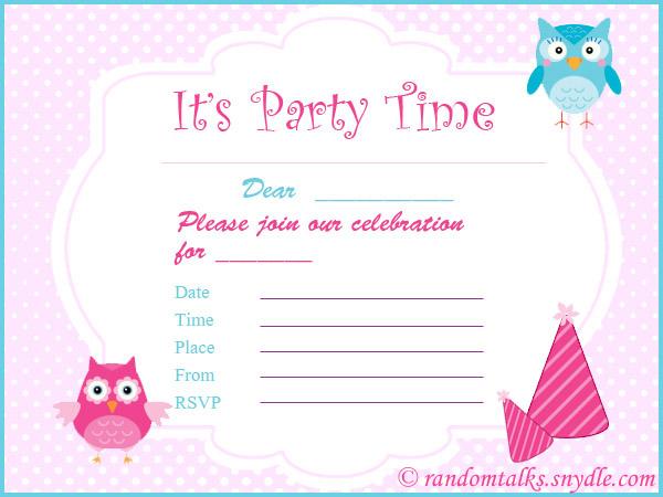 Free birthday invitations for kids ivoiregion birthday invitation free printable for tweens orderecigsjuiceinfo filmwisefo
