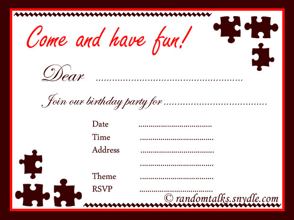 Adult Birthday Party Invitations - announcingitcom