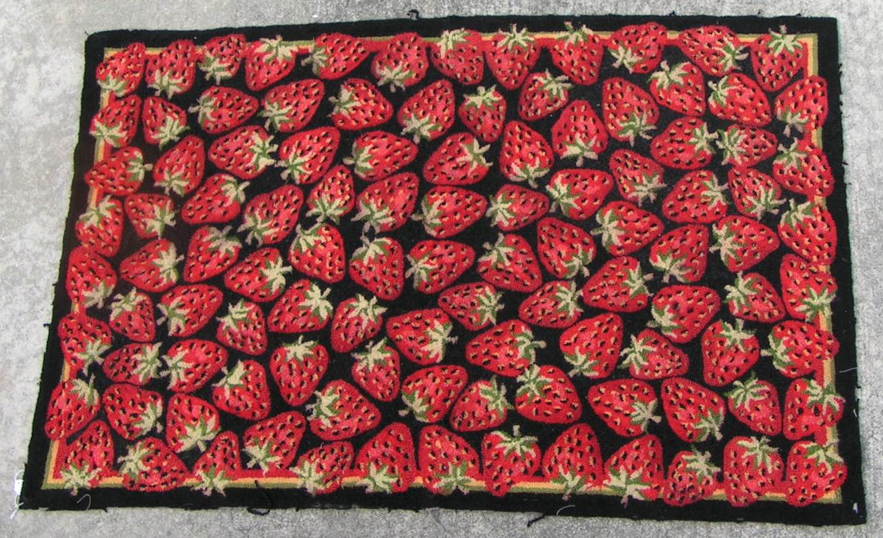 Fruit Themed Kitchen Decor Collection Strawberry Rugs Rugs Ideas