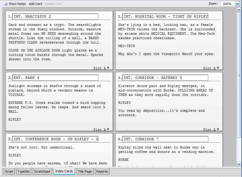 SCRIPT INDEX CARDS Development and Realisation - make index card