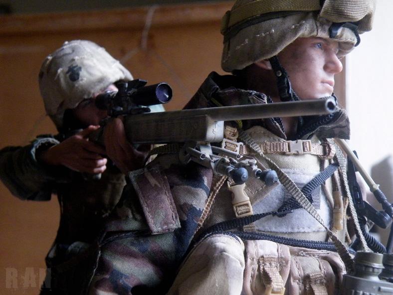 US Marine Scout Sniper Team, Task Force Tarawa, Battle of Nasiriyah