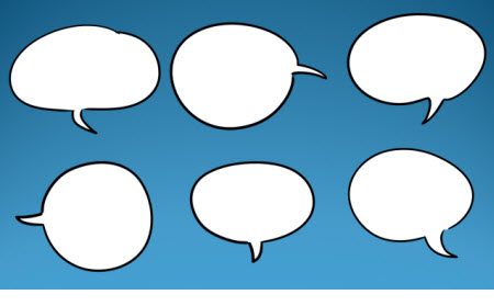 Over 45 Free Speech Bubbles to Make Your E-Learning Courses Talk