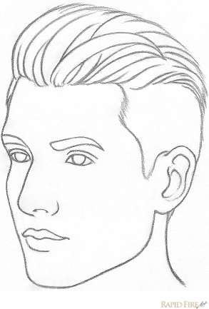 How to draw a face from 3/4 view RapidFireArt