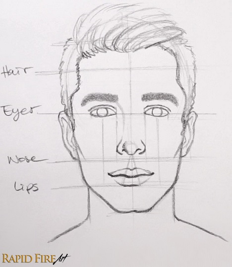 How to Draw Faces for Beginners \u2013 SIMPLE RapidFireArt