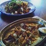 Turkish manti dumplings and crispy calamari at Byblos lots ofhellip