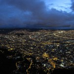 Bogota at night, and time to depart