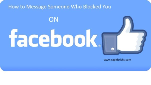 How to message Someone who blocked you on Facebook