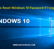 How To Reset Windows 10 Password If Forgotten
