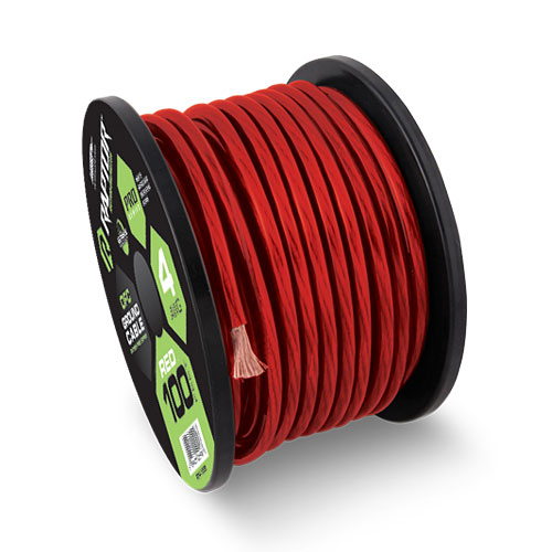 PRO SERIES - Red Power Cable R5-RED  Raptor, Car Audio