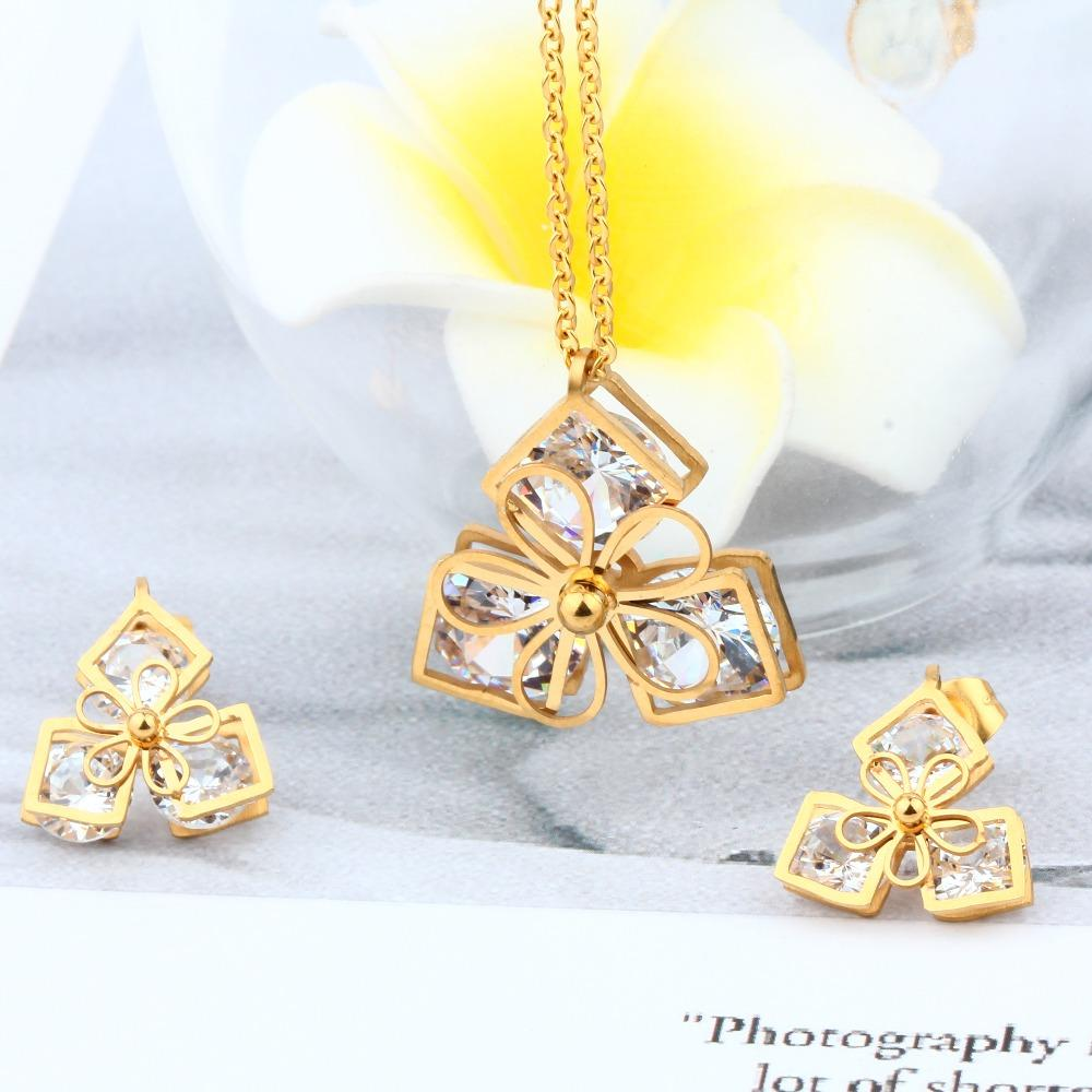 Wholesale Jewelry Japan Xuanhua Factory Wholesale Stainless Steel Jewelry Sets Of