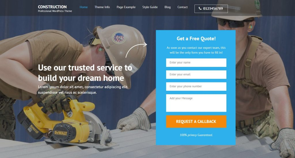 Build Construction Company Website with WordPress - Step-by-Step