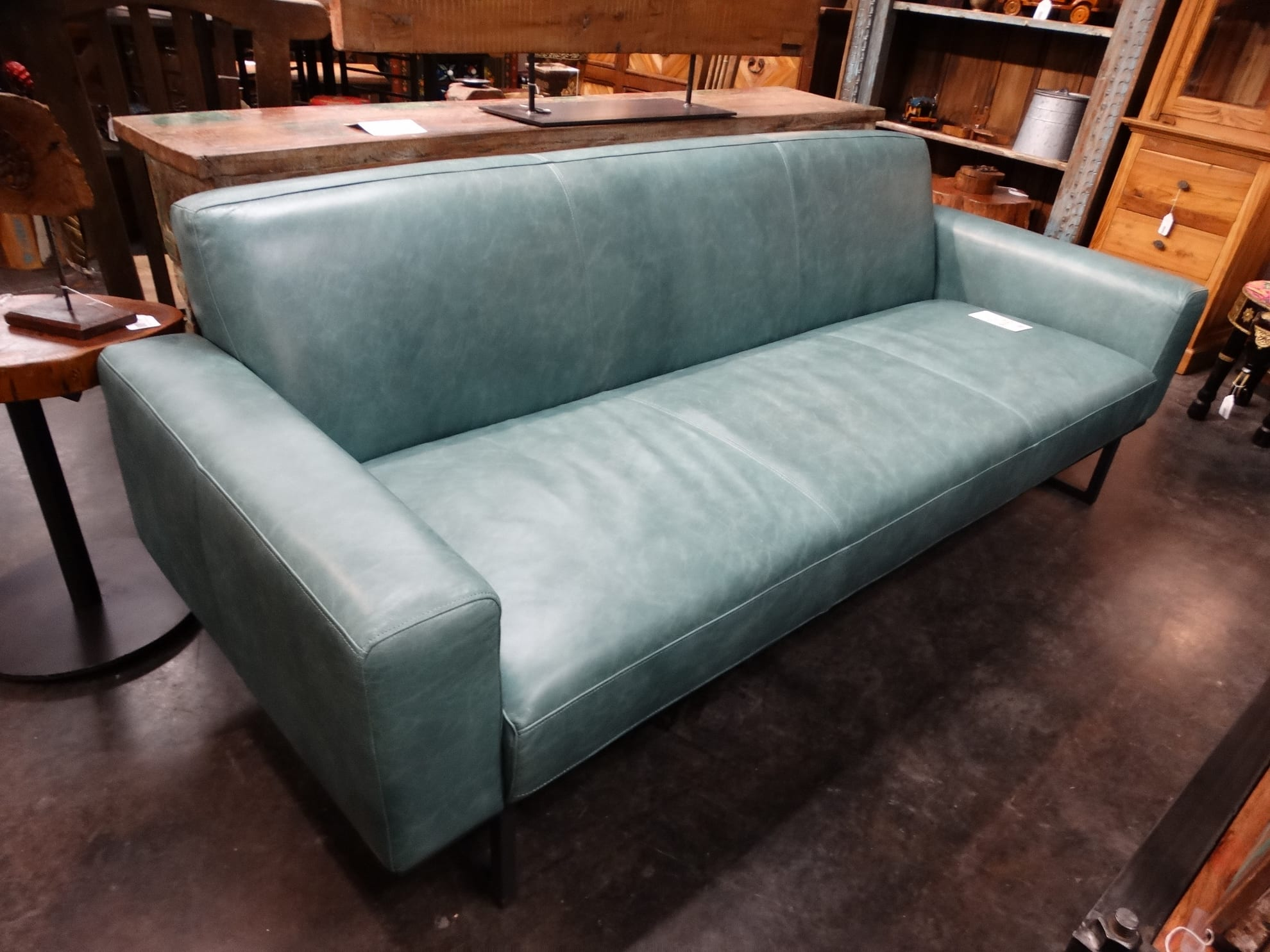 Dahlia 3 Seat Leather Sofa Uncategorized Rare Finds Warehouse