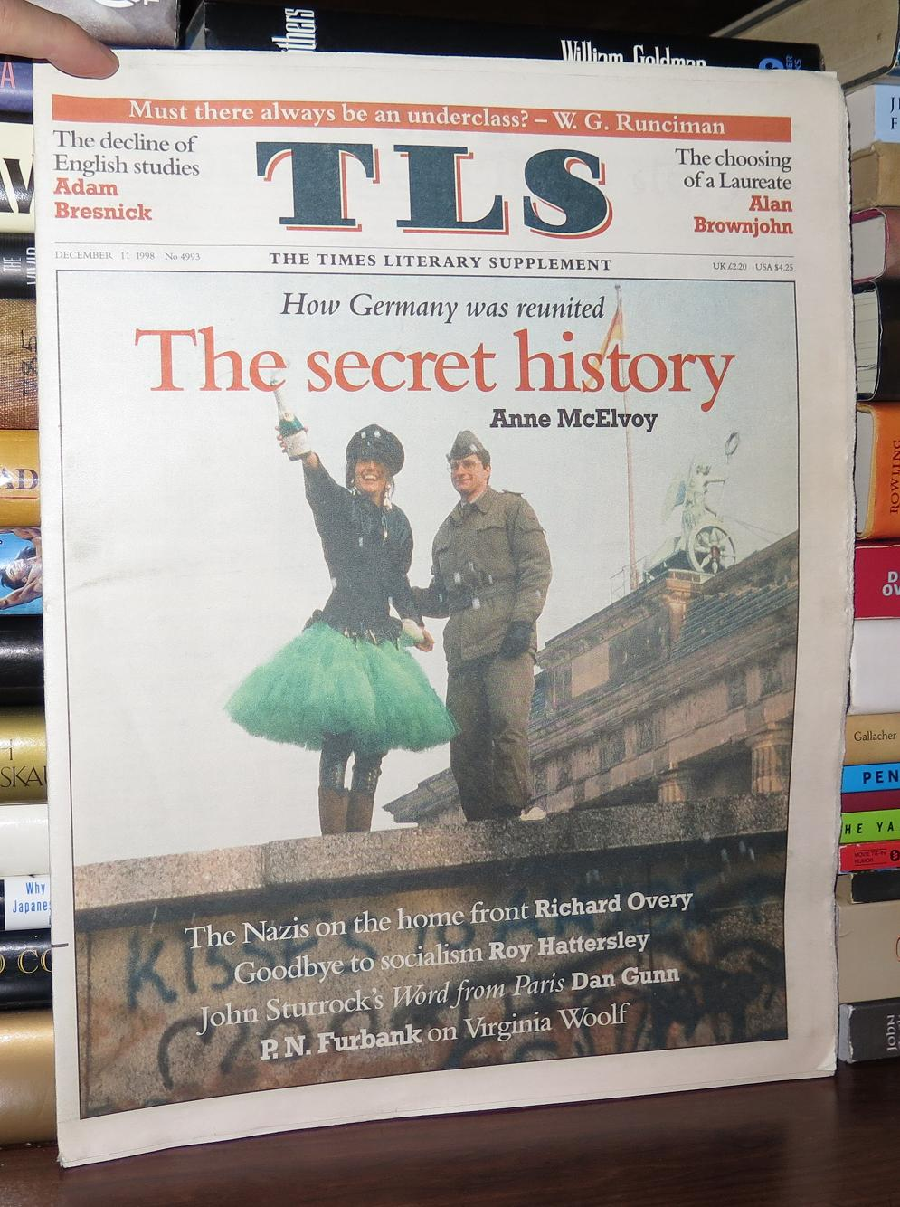 Adam Bresnick Tls The Times Literary Supplement December 11 1998 By Adam Bresnick On Rare Book Cellar