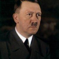 Adolf Hitler's eye color in a rare color photo