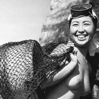 Japanese pearl divers, 1950s
