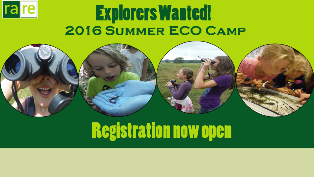 rare Logo, Explorers Wanted! 2016 Summer ECO Camp, Registration now open, photos of kids