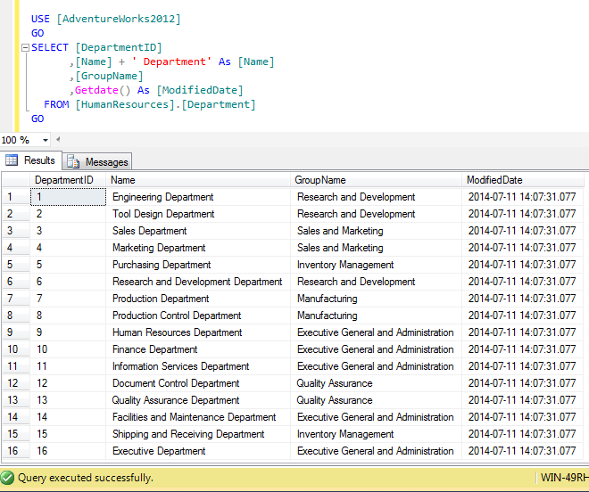 sql insert into select statement