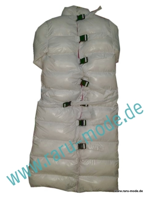 Welche Bettwäsche Im Winter Raru - Mode Glanz Nylon Wetlook Winter Zwangsjacke Mantel