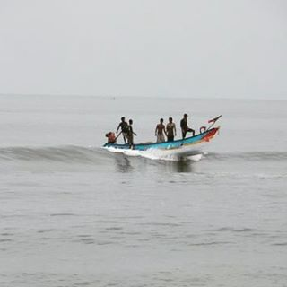 Returning home fishermen approaching the shore after a long dayhellip