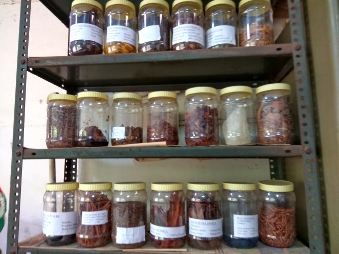 Dyes prepared from plant matter like fruits, bark etc