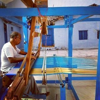 A Weaver at work in Pochampally Andhra Pradesh creativity athellip