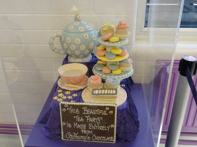 Tea party made up of chocolate