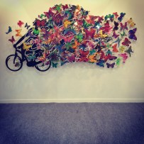 Cyclist & Butterflies by David Gerstein